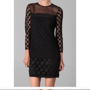 Diane Von Furstenberg Black Long Sleeve Emmy Dress